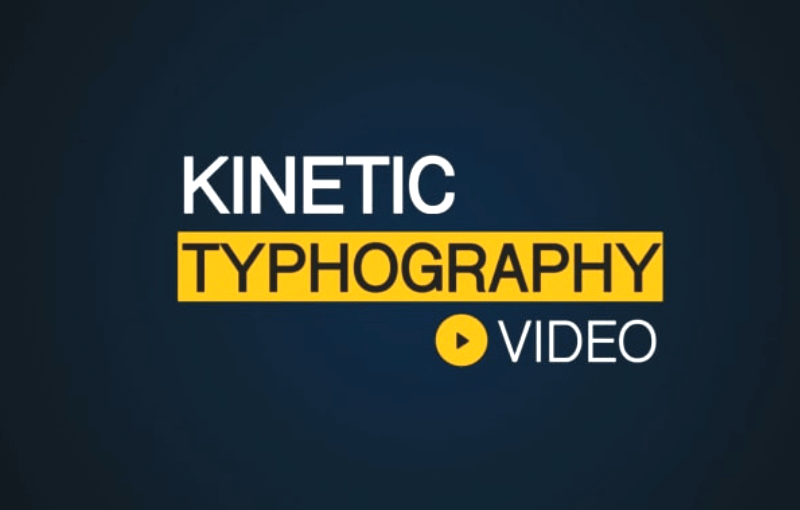 kinetic typography video