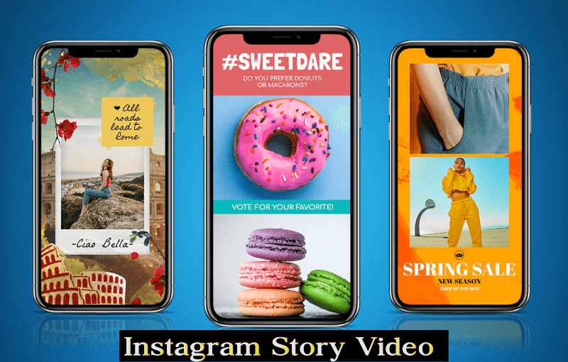 Instagram story video ad
